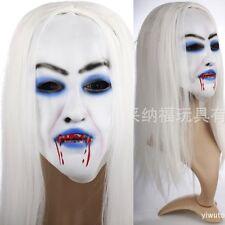 Halloween Donna Maschera con Capelli Costume Di Carnevale orrore Partito COLPIRE