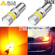 AllaLighting 1157 72-LED Parking Light Bulb|Side Marker|Turn Signal Amber Yellow