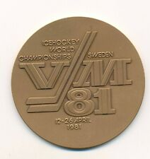 1981 Sweden World Ice Hockey Championships participant bronze medal