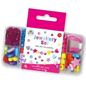 Kids Children's create Make Your Own Jewellery Bracelet Necklace Beads Set 3+ UK