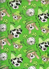 """OOP! """"ST. PATRICKS DOGS WITH GLITTER - BTHY - 18""""X44"""""""