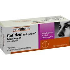 CERTIRIZIN ratiopharm avec Allergies comprimé enrobé 50 pièces PZN2158159