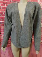 Krizia Womens Blazer Zig zag  Pattern Jacket Wool Long Sleeve Made in Italy