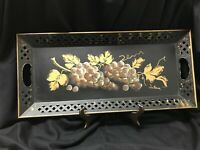 Mid-Century Hand painted Tole Tray