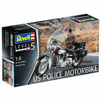 REVELL 1:8 KIT MOTO US POLICE MOTORBIKE  LUNGHEZZA 30,2 CM ART 07915