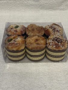 Lot of 6 Full Size Realistic, Artificial, Faux, Fake Food - Muffins.