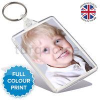 Personalised Custom Photo Gift Keyring Key Fob 73 x 51 mm | Jumbo Size