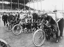 Indian Excelsior Harley Davidson Motorcycle Board track racing photo 8 X 10