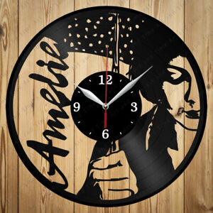 Vinyl Clock Amelie Original Handmade Art Home Decor Vinyl Record Wall Clock 4221