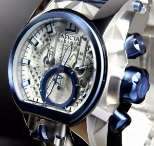 Invicta Reserve Bolt Zeus Magnum Swiss Mvmt Chrome Silver Blue Watch Men's Watch