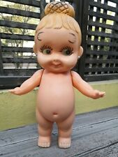 "VTG 1970's RARE MEXICAN KEWPIE JUMBO GIRL DOLL 16.5"" BLOWN PLASTIC CLONE MEXICO"