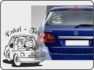 "Auto-Aufkleber ""Enkeltaxi"" Taxiaufkleber für Oma+Opa Autoaufkleber ENKEL (1001)"
