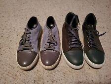 2 Pair Lanvin Suede Cap Sneakers size 8