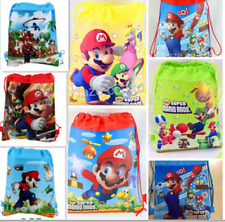 1pc Super Mario Non-woven Children Swim Drawstring Bag  utility AUU
