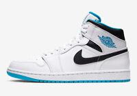 NEW WITH BOX Men's Nike Air Jordan 1 Mid Laser Blue 554724-141