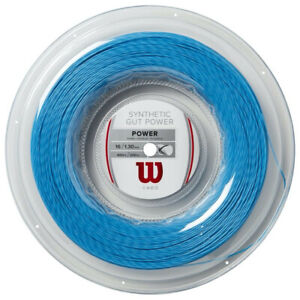 New Wilson Synthetic Gut Power 1.30/16G String 200m Reel Blue Power WR830140116