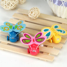 Lovely Mini Butterfly Plastic Flapping Wing Wind Up Color Random Toy Kid Gift