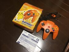 BOXED Official Nintendo 64 Controller Bros PIKACHU ORANGE Pad Japan pokemon