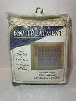 Vintage Hand Crocheted Valence Ecru Lace 100% Cotton 60x14 NEW