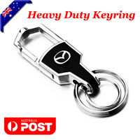 Car styling Silver Car Key Ring Keychain Keyring Chain For Mazda Car AWD 4WD