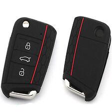 Silicone Car Key Case Remote Key Bag Holder Cover For Volkswagen VW Golf 7 mk7