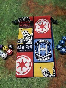 Star Wars Tie Fighter Boba Fett gid dice bag, card bag, makeup bag, gift bag