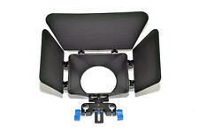 Movie Camcorder Matte Box Shade Hood 15mm Rail Rod for DSLR Rigs