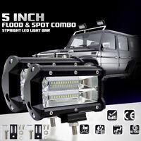 5'' 72W Spot LED Light Work Bar Lamp Driving Fog Offroad SUV 4WD Car Boat Truck