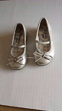 John Lewis shiny silver ballerina pump/ flat shoes UK 4/EU 20 Infant New RRP £22