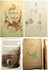 CURIOSA/DENISE/AURELIEN SCHOLL/AQUARELLES DE GRIVAZ/ED ROUVEYRE/1884/RARISSIME