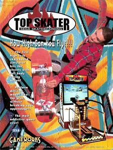 1997 SEGA TOP SKATER VIDEO FLYER