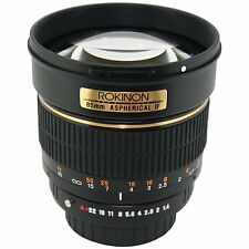 Rokinon 85M-O 85mm F1.4 Aspherical Portrait Lens for Olympus E-series SLR camera
