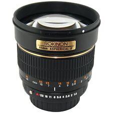Rokinon 85M-O 85mm F1.4 Aspherical Portrait Lens for Olympus E-series SLR camera