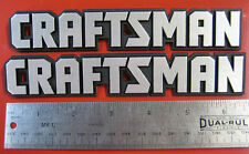"Set of 2 Craftsman 6 5/8"" Tool Box Badge Chest Cabinet Emblem Decal Sticker Logo"