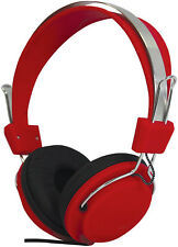 Soundlab Style Headphones - Red