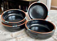 """DANSK Portugal MESA Black 6 1/4"""" Cereal Bowl - Set of 4"""