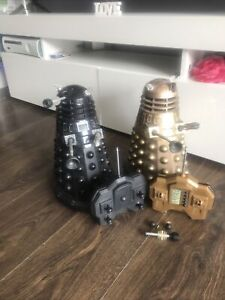 """Doctor Who 12"""" R/C Daleks?  Both Daleks Working But Remote Controls Are Not"""