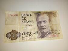 Spaanse peseta biljetten set van 4: 1x 5000 (1978) 1x 2000 (1980) 2x 100 (1953)