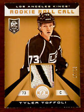 2013/14 TYLER TOFFOLI TOTALLY CERTIFIED 3 COLOR PATCH ROOKIE RC / 25