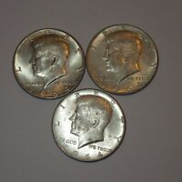 Kennedy Half Dollars 1964, 90% Silver Coins *SET OF 3*, Circulated