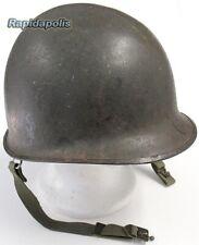 Genuine US WW2 Swivel Bail M1 Rear Seam Steel Helmet, Original Paint, Lot 1222A