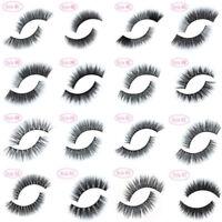 Cn _ Fm- 100% Vison Véritable Long Doux Épais Naturel Maquillage Cils Faux Cil