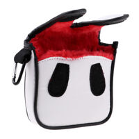 Durable PU Golf Putter Cover Mallet Golf Headcover Club Head Protector Red