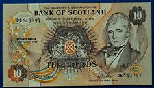 More details for bank of scotland 1989 ten pound (£10) banknote.            ch14-178