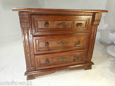Vintage oak Miniature Chest of Drawers ,  ref 2828