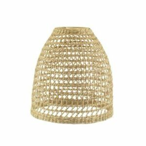Sass & Belle BASK026 Woven Seagrass Lampshade - Brown