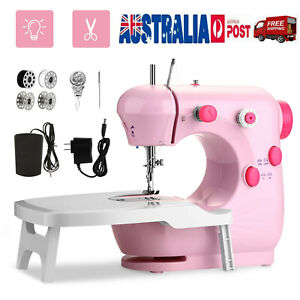 Mini Sewing Machine 2 Speed w/Extension Table Portable Kids and Adults Gift Pink