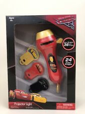"""Disney Cars 3 Projector Light Handle Held 3+ 24 Color Images Projects 36"""""""