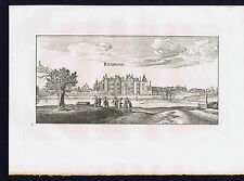 Richmond Palace, London, River Thames, Wenceslas Hollar, 1882 Print