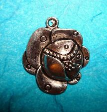 4//20//100 Vintage Silver Skull Mouth With Rose Decor  Pendant Accessories 40*22mm